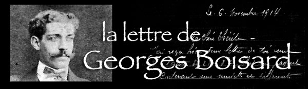 La lettre de georges Boisard : 6 novembre 1914