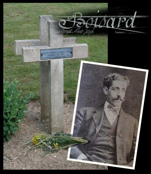 La sépulture de Georges Boisard