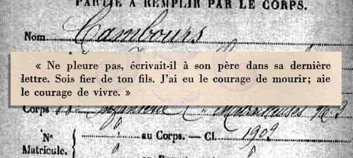 Jean Cambours, tué le 21 février 1916.8