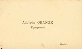 carte de visite Adolphe Orange Bolbec