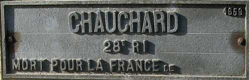 La photo de la tombe du soldat Louis Gauchard