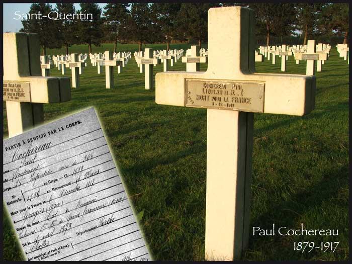 La sépulture de Paul Cochereau
