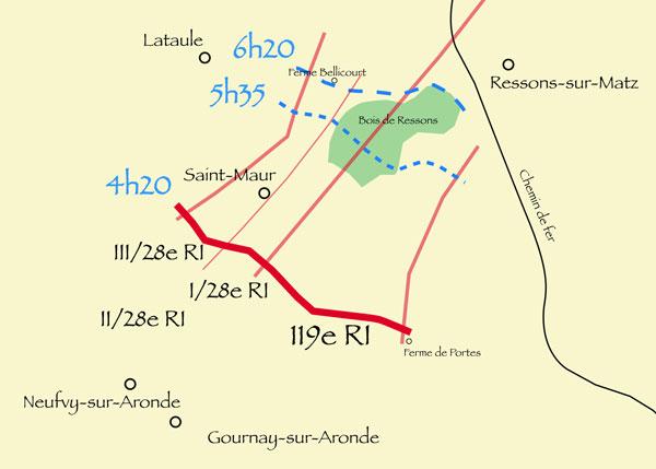 Plan du 9 août 1918