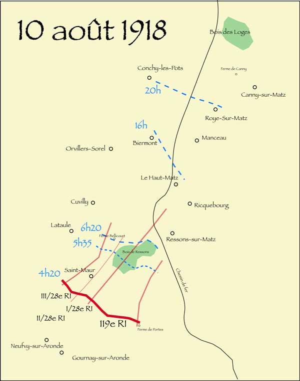 L'attaque du 10 août 1918