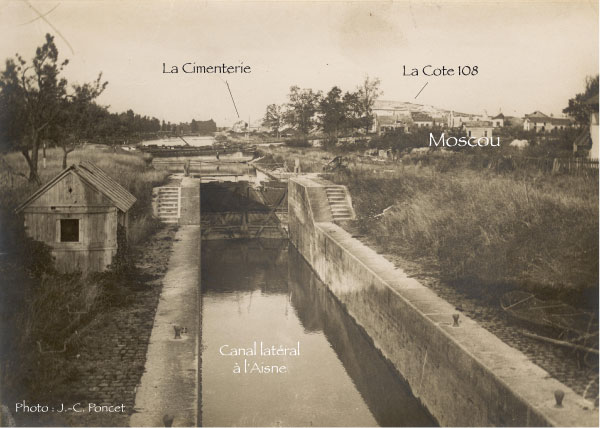 Le pont du canal à Berry-au-Bac. Photo J.-C. Poncet