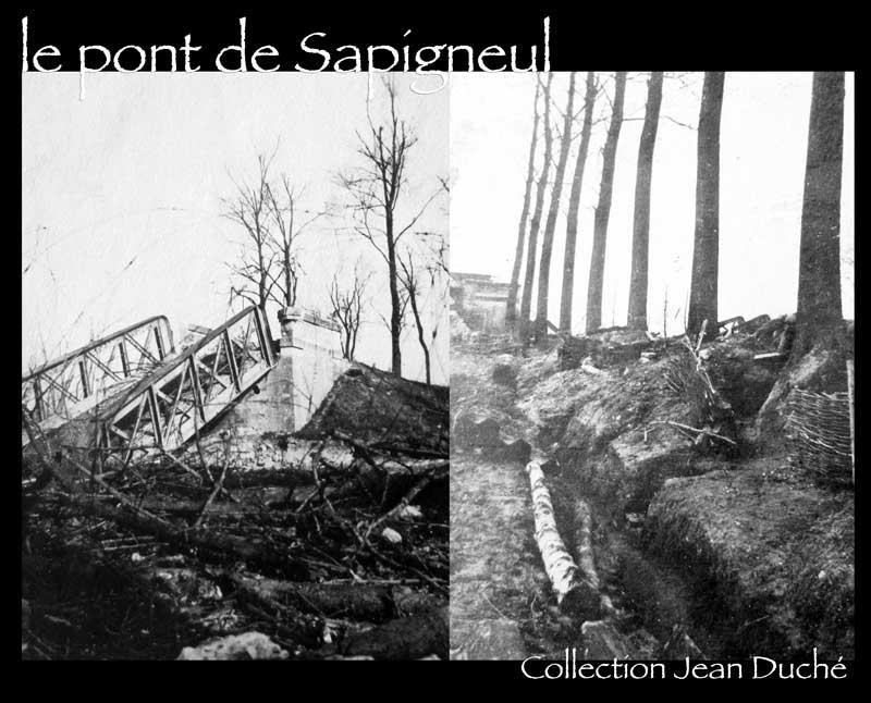Une photo du pont détruit de Sapigneul Sapigneul_pont_Jean_Duche