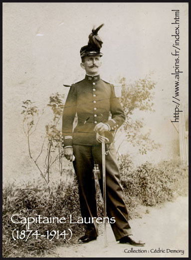 La photo du capitaine Laurens, disparu � Guise le 28 ao�t 1914