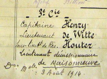 La composition de la 3e compagnie du 28e RI en août 1914.