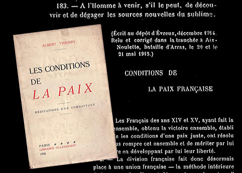 Les conditions de la Paix, Albert Thierry