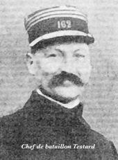Raymond Testard, chef du 1er bataillon du 28e RI
