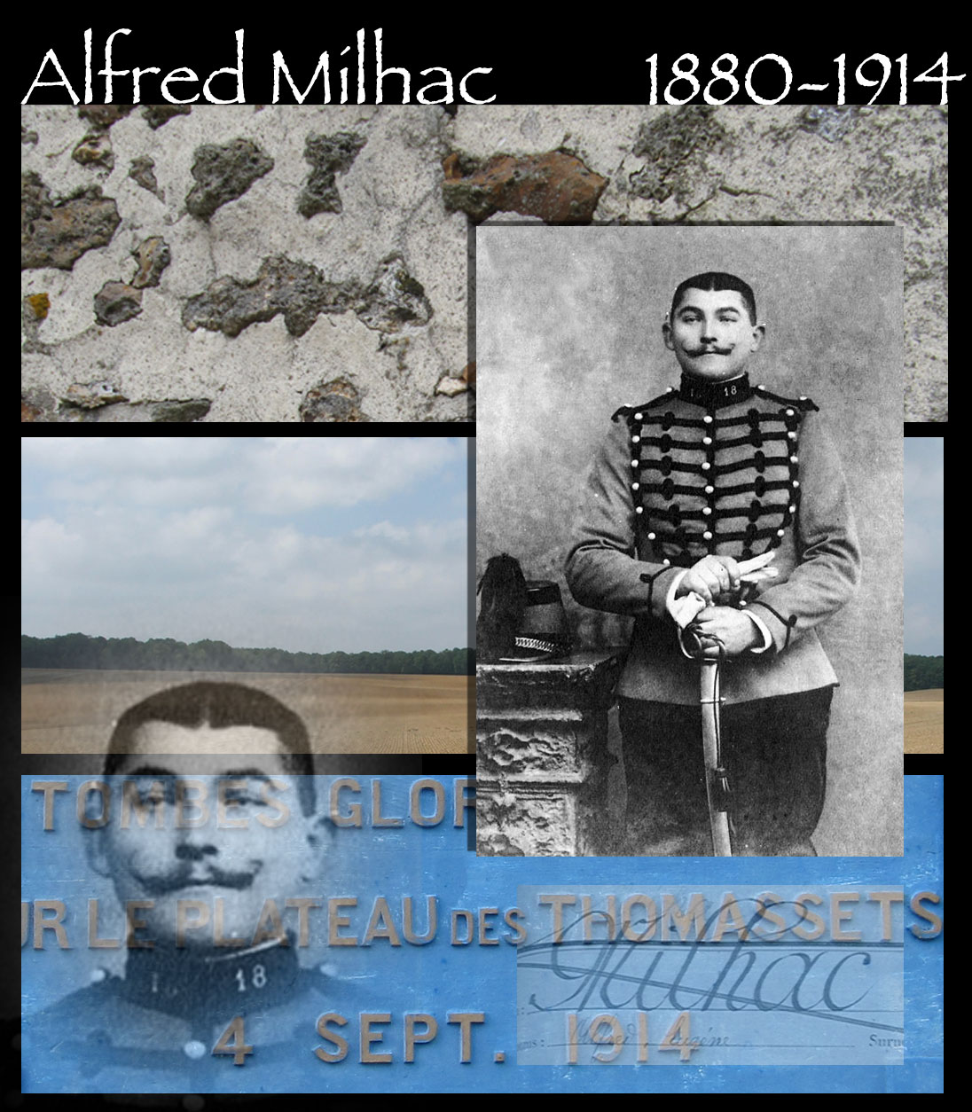 Alfred Milhac, tué le 4 septembre 1914 aux Thomassets. Photo : collection Laurent Rat.