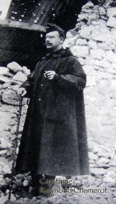 Raymond Chamerot, capitaine du 28e RI, tué le 6 juillet 1915 à La Targette (Artois)