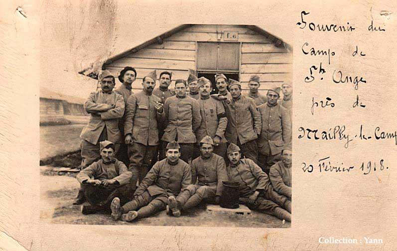 Soldats du 28e RI en février 1918