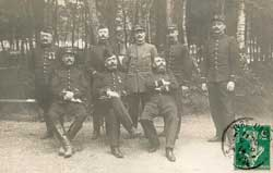 Groupe d'officiers du 28e RI au printemps 1914