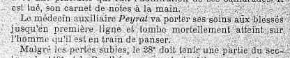 Gustave Peyrat, médecin auxiliaire du 28e RI