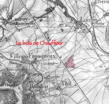 Le bois de Chauffour près de Villers-Franqueux