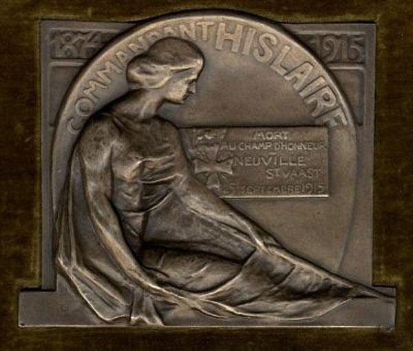 plaque à la mémoire d'Achille Hislaire