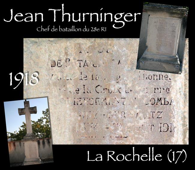 La sépulture de Jean Turninger du 28e RI