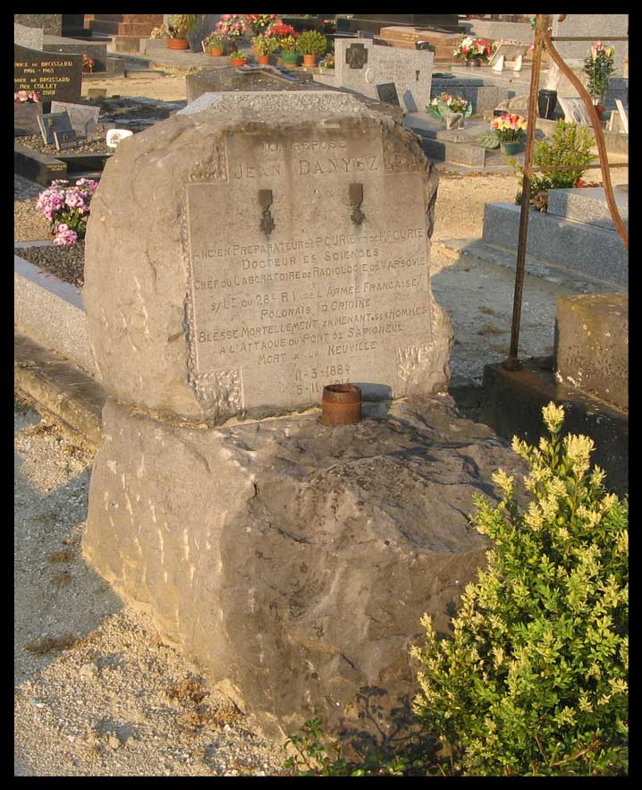 Photo de la tombe de Jean Danysz