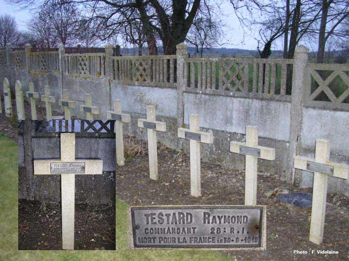 La tombe de Raymond Testard